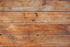 Texture en bois Horizantal de Brown foncé photos stock