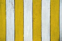 Texture en bois jaune de mur pour le fond Photo stock