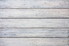 Texture en bois minable blanche de planches Images libres de droits