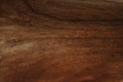 Texture en bois naturelle de noix foncée Texture en bois naturelle balayée par main Images stock