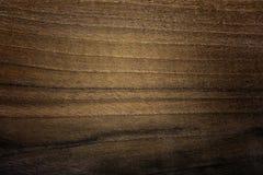 Texture en bois naturelle de noix foncée Texture en bois naturelle balayée par main Images libres de droits