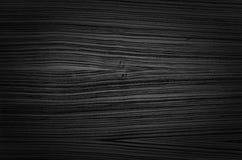 Texture en bois noire Images libres de droits