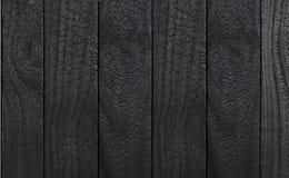 Texture en bois noire de dégrossissage carbonisée photos libres de droits