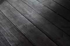 Texture en bois noire de plancher, bois dur images libres de droits