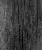Texture en bois noire et blanche et vieille Images stock