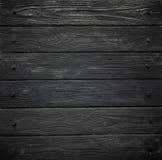 Texture en bois noire vieux panneaux de fond Image libre de droits
