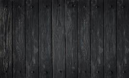 Texture en bois noire vieux panneaux de fond Photographie stock libre de droits