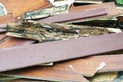 Texture en bois noisette détruite avec le fond de pierre de mer Photos stock