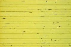 Texture en bois peinte par jaune Photos libres de droits