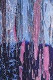 Texture en bois rayée colorée bleue photo libre de droits