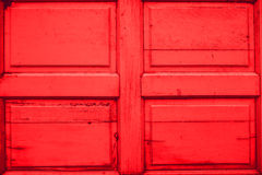 Texture en bois rouge de porte Image libre de droits
