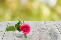 Texture en bois sale de dessus de table de perspective vide sur le natur brouillé Image stock