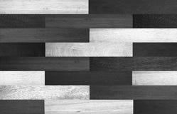 Texture en bois sans couture, fond en bois noir et blanc de texture Image libre de droits
