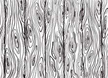 Texture en bois tirée par la main Photo libre de droits