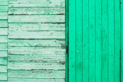 Texture en bois verte Photos stock