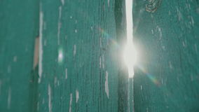 Texture en bois verte de barrière banque de vidéos