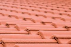 Texture en céramique de tuiles de toiture Image stock