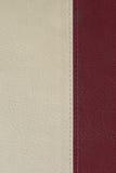 Texture en cuir blanche et rouge photographie stock