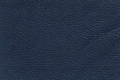 Texture en cuir bleue Photo libre de droits