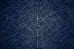 Texture en cuir bleue sans couture Photos libres de droits