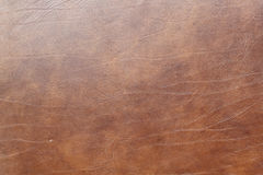 Texture en cuir de Brown Photo stock