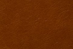 Texture en cuir de contraste dans la couleur brune habituelle photo stock