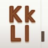 Texture en cuir de peau d'alphabet. Images libres de droits