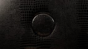 Texture en cuir foncée Photographie stock libre de droits