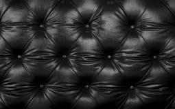 Texture en cuir noire élégante, fond Image stock
