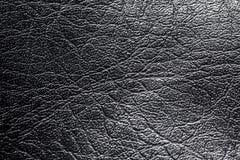 Texture en cuir noire Photographie stock libre de droits