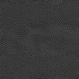 Texture en cuir noire de luxe Fond carré sans couture, tuile r images libres de droits