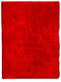 Texture en cuir rayée rouge de cru Photo stock