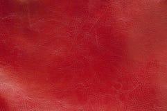 Texture en cuir rouge Image libre de droits