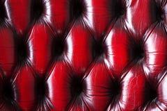 Texture en cuir rouge Photos stock