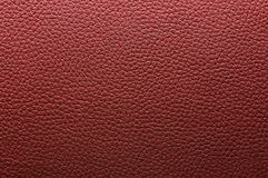 Texture en cuir rouge Images libres de droits
