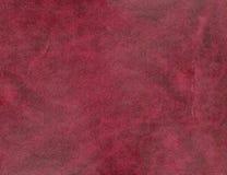 Texture en cuir rouge-brun de QG Photographie stock libre de droits