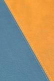 Texture en cuir rouge et bleue Photographie stock