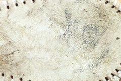 Texture en cuir sale d'un base-ball utilisé photos stock