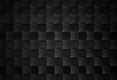 Texture en cuir tissée par noir Photo libre de droits