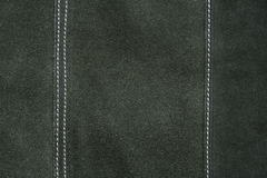 Texture en cuir vert-foncé comme fond Photographie stock