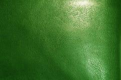 Texture en cuir verte Image libre de droits