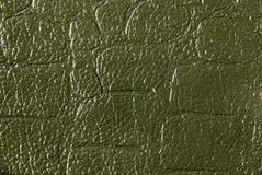 Texture en cuir verte Photos libres de droits