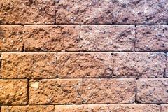 Texture en gros plan de mur de briques Photos stock