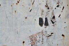Texture en métal avec des éraflures et des fissures Image stock