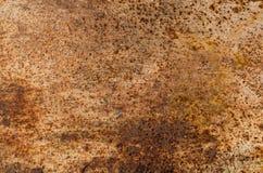 Texture en métal avec des taches de rouille horizontales photo libre de droits