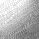 Texture en métal d'argent de brosse de cheveux Images libres de droits