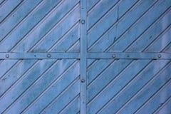 Texture en métal de la porte Images libres de droits