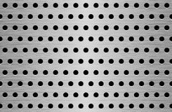 Texture en métal de perforation Photo stock