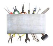 Texture en métal sur des outils Photographie stock libre de droits