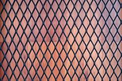 Texture en métal sur le bois Photo stock